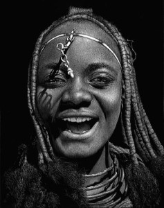 Laughing Himba Woman by Diana Lee